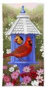 Spring Cardinals Bath Towel