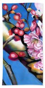 Spring Cherry Blossoms Bath Towel
