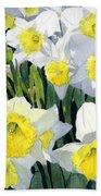 Spring- Daffodils Bath Towel