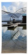Spring Docks On Priest Lake Bath Towel