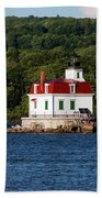 Spring Evening At Esopus Lighthouse Bath Towel