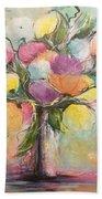 Spring Fling Flowers In A Vase Bath Towel