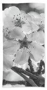 Spring Flowers - White Bath Towel