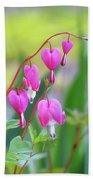 Spring Hearts - Flowers Bath Towel