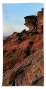 Spring Landscape, Gritstone Rock Formations, Stanage Edge Bath Towel