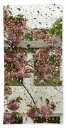 Spring Rain Outside The Window And Sakura Bath Towel