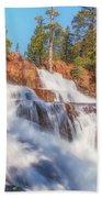 Spring Runoff At Glen Alpine Falls Bath Towel