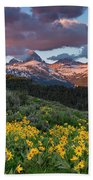 Spring Sunset In The Tetons Bath Towel