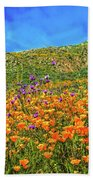 Spring Superbloom In Walker Canyon Bath Sheet