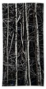 Spring Woods Simulated Woodcut Bath Towel