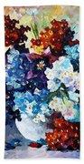 Springs Smile - Palette Knife Oil Painting On Canvas By Leonid Afremov Bath Towel