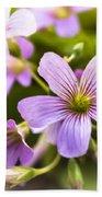 Springtime Blooms Violet Wood Sorrel 3 Bath Towel