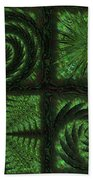 Square Crop Circles Quad Bath Towel