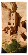 Square Tower Ruin Bath Towel