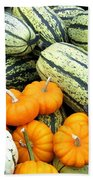 Squash Harvest Bath Towel