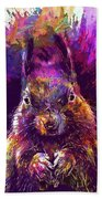 Squirrel Animals Possierlich Nager  Bath Towel
