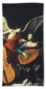 St. Cecilia And The Angel Bath Towel