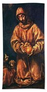 St Francis And Brother Rufus 1606 Bath Towel