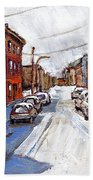St Henri Depanneur Canadian Paintings Mini Montreal Masterpieces For Sale Petits Formats A Vendre  Bath Towel