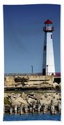 St. Ignace Lighthouse Bath Towel