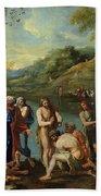 St John Baptising The People Hand Towel