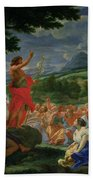 St John The Baptist Preaching Bath Towel