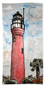 St Johns River Lighthouse Florida Bath Towel