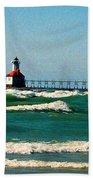 St. Joseph River Lighthouse Bath Towel