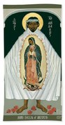 St. Juan Diego And The Miracle Of Guadalupe - Rljdm Bath Towel