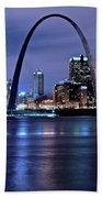 St Louis Black N Blue Hand Towel