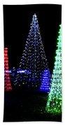 St Louis Botanical Gardens Christmas Lights Study 4 Bath Towel