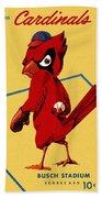 St. Louis Cardinals Vintage 1956 Program Bath Towel
