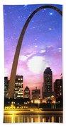 St Louis Skyline As Night Falls Bath Towel