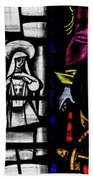 St Mary Redcliffe Stained Glass Close Up C Bath Towel