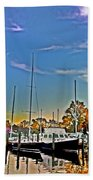 St. Michael's Marina On The Chesapeake Bath Towel