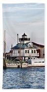 St Michael's Maryland Lighthouse Bath Towel