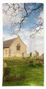 St Oswald's Church Graveyard Bath Towel