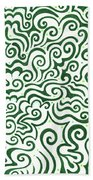 St Patrick's Day Abstract Bath Towel
