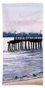 St. Simons Island Fishing Pier Bath Towel