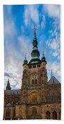 St  Vitus Cathedral In Prague Bath Towel