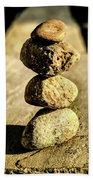 Stacked Rocks Bath Towel by Onyonet  Photo Studios