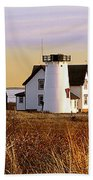 Stage Harbor Lighthouse Chatham Bath Towel