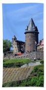 Stahleck Castle In The Rhine Gorge Germany Bath Towel