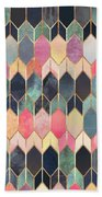 Stained Glass 3 Bath Towel by Elisabeth Fredriksson