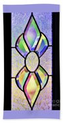 Stained Glass Watercolor Bath Towel