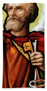 Stained Glass Window, St Peter Hand Towel