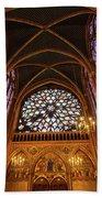Windows Of Saint Chapelle Bath Towel