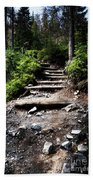 Stair Stone Walkway In The Forest Bath Towel