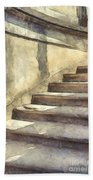 Staircase At Pitti Palace Florence Pencil Bath Towel