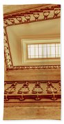 Staircase In Brown Bath Towel